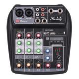 Consola Mezcladora De Audio Muslady Ai-4 Digital Compacta