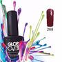 Esmalte Gel Uñas Tipo Gelish Gloss Over Color Blood Rojo
