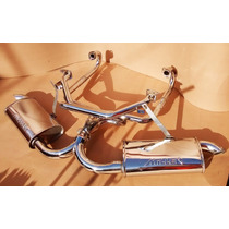 Kit Headers Cromados Vocho Carburado Fat Boy Doble Miller