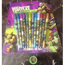 Plumas De Gel Tortugas Ninja Turtles Tmnt Nickelodeon Hm4