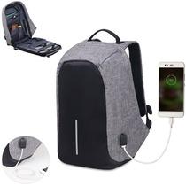 Sonolife Mochila Antirrobo Impermeable Laptop Conexión Usb