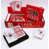 Baraja Duo De Carton Plastificado Poker Modelo Ms1056