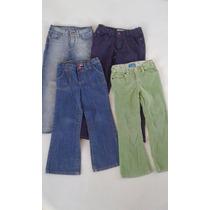 4 Pantalones Para Niña Levis, Carters, Cherokee Talla 6