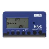 Metrónomo Digital Compacto Azul - Negro Korg Ma-2-blbk