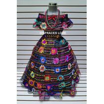 Traje Tipico De Chiapas 7 Olanes Vestido Chiapaneco