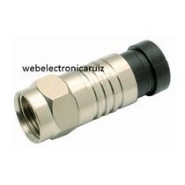 Conector Para Cable Rg59 Permaseal Para Ponchar Cable Coaxia