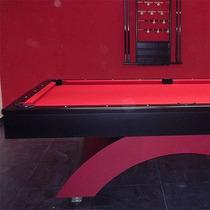 Mesa De Billar Modelo Imperial Roja Y Negro