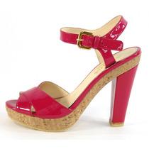 Sandalias Con Plataforma Rosa Prada
