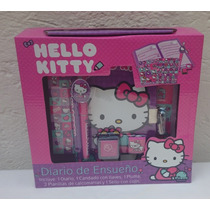 Fiesta Hello Kitty Set De Diario Con Estampas Y Sellos