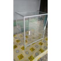 Vitrina De Aluminio Y Vidrio Claro
