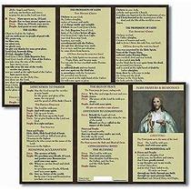 Tarjeta Del Bolsillo De Oración Y Respuestas Misa Católica