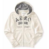 Hoodie Aeropostale (aero Applique Full-zip) M 100% Original