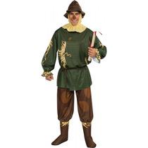 Mago De Oz Disfraz - Mens Adultos Espantapájaros Oficial