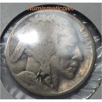 Moneda 5 Centavos Nickel Indio Bufalo 1925 P Usa