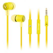 Los Mas Baratos Audifonos Vorago Ep-204 Amarillo Microfono