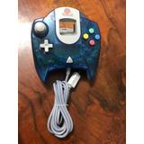 Control Dreamcast Azul Transparente