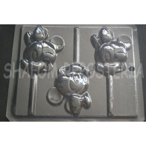 *molde Paletas Chocolate Minnie Mouse Cara Bebe Baby Disney*