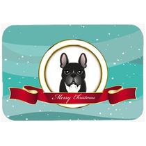 Bulldog Francés Feliz Navidad De La Cocina O El Baño Mat 2
