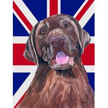 Labrador Con Inglés Union Jack Británica Bandera De La Ban