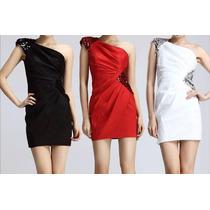 Vestido Negro De Fiesta Strapless Boda Elegante Casual Hm4