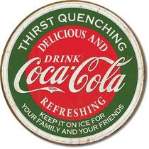 Coca Cola Sed Vintage Retro Letrero Cartel Poster Anuncio