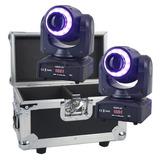 Set 2 Cabeza Movil Spot Led 60w Disco Dmx Con Case Robotica