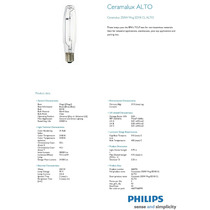 Foco Philips Ceramalux C250s50 Vapor De Sodio 250w Erebenga