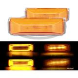 Plafones 4 Led Gel Plasma Lateral Alta Baja Estrob Ámbar F1