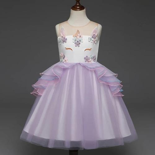 Vestido Unicornio Para Niña Niñas Fiesta Cumpleaños Disfraz