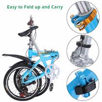 Bicicleta Folding Plegable 6 Velocidades Shimano Compacta