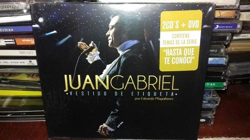 Juan Gabriel Vestido De Etiqueta Set 2cds1dvd Nuevo En
