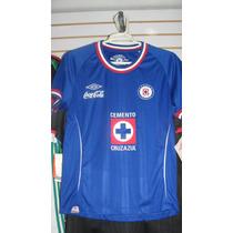 Playera Umbro Del Cruz Azul Dama Temporada 2010 Talla L