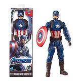 Serie Titan Hero Capitan America  Con Casco 12 Pulgadas