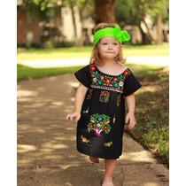 Vestido Niña Bebé Artesanal Bordado Mexicano Chiapas En