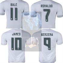 Jersey Real Madrid Blanca Ronaldo, Bale, James Nueva 2016