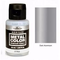 Pinturas Acrilicos Vallejo Metal Color Aluminio Oscuro 77703