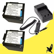 Kit 2 Baterias Y Cargador Para Panasonic Vw-vbg260 4000 Mah