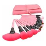 Set De 24 Brochas De Maquillaje Make Up For You Brush Rosa