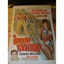 Antiguo Cartel Original Del Enmascarado De Oro Lucha Libre