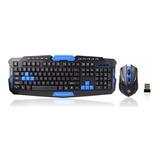Kit Mouse Y Teclado Inalambrico Gamer 1600dpi Pc Laptop Usb