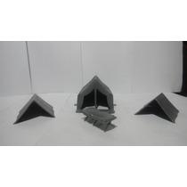 Marx Plastimarx 60mm Maquetas 4 Pzas Tiendas Campaña Vbf