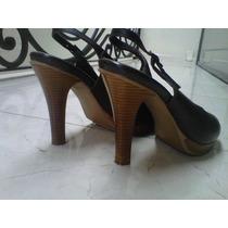 #1 Zapato Cafés Talla 5 De Piel Sandalias Dama Calzado