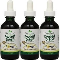 Sweet Leaf Dulce Gotas De Vainilla Crema De Sabores Liquid S