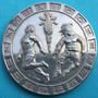 Medalla Mexico Olimpiadas 1968 Plata Muy Escasa