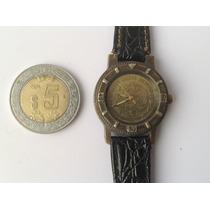Reloj Japones Para Dama Con Moneda Mexicana Carátula. Cuarzo