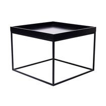 Mesa De Centro Acero Negra Mueble Diseño Moderno Cubo