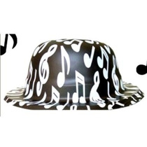 10 Sombreros Bombín Musical Negro