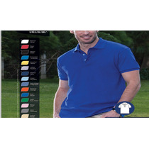 Uniformes Mayoreo Playera Camisa Polo Caballero Optima 100