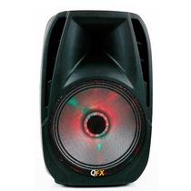 Bocina Qfx Bluetooth Portátil Para Fiesta Luces Rgb Led Fm