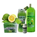 Shampoo+gel+ Jabon Y Aceite De Bergamota Crecimiento Capilar, Barba Y Bigote Envío Gratis